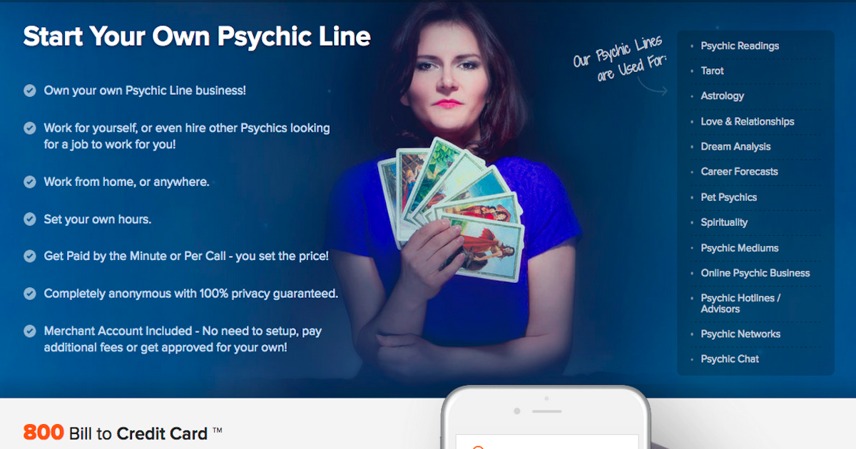 PayPerCall com - Start Your Own Psychic Line | Psychic Line Business